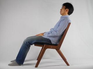 木製折り畳み椅子 使用状態