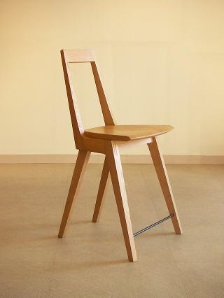 オリジナルデザイン 木製椅子 Kハイチェアー