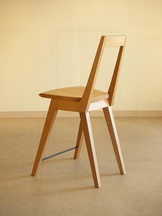 オリジナルデザイン 木製椅子 Kハイチェアー後