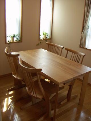 ナラ材テーブル&Sチェア