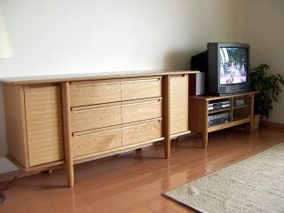 丸脚サイドボード&テレビ台