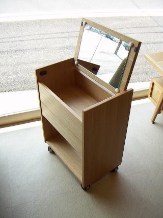 ドロワー状態のワゴン|オーダー家具 作例