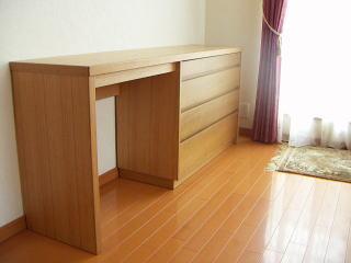 ホテルデスク型のチェスト|オーダー家具 作例