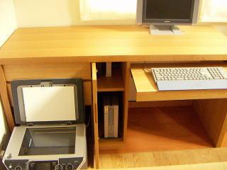 キーボードカウンターとプリンター収納