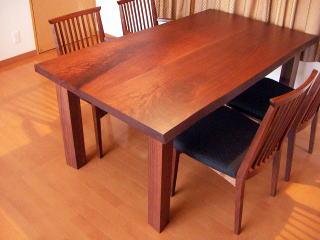 ウォルナット無垢テーブル