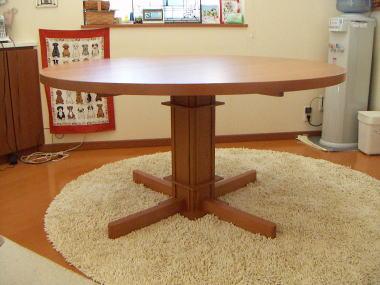 丸テーブル側面