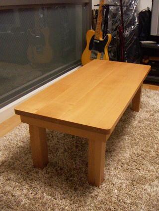 山桜の折り畳み座卓