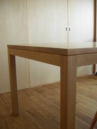テーブルのディティール