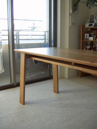 棚付きダイニングテーブル