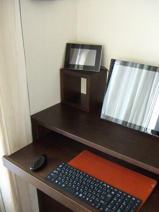 パソコンデスク800+電話置き