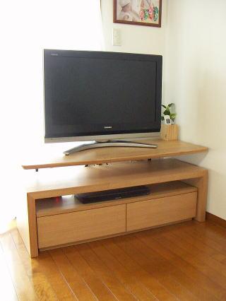 ミニテーブル付きテレビボード