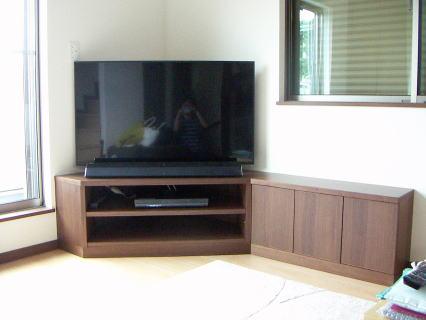 L型コーナーテレビボード