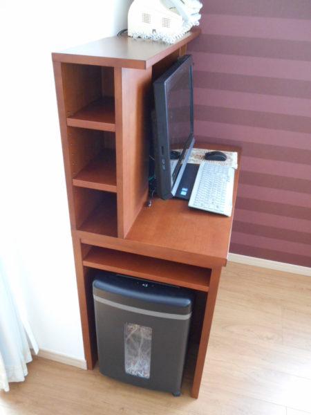 パソコンデスク側面