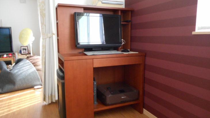 限られたスペースに、パソコン・プリンター・シュレッダー・その他諸々を収めた話|オーダー家具 作例