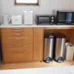 人工大理石天板のキッチンカウンター