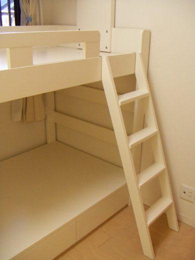 子供部屋の二段ベッド