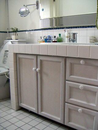 洗面台下収納|オーダー家具 作例