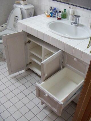 洗面台下収納 オープンした状態