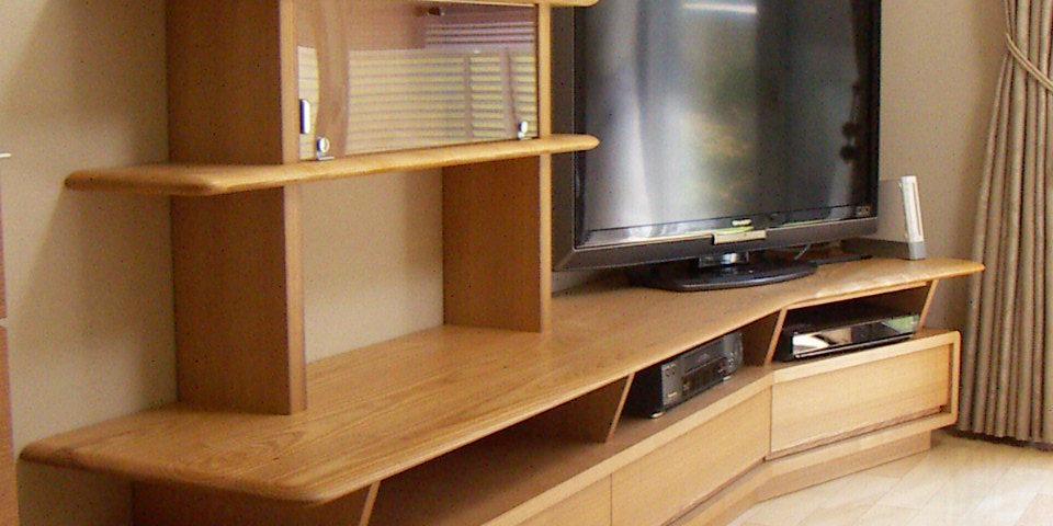ブーメラン型TVリビング オーダー家具